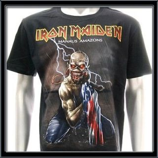 Sz L Iron Maiden T shirt Hard Metal Rock The A Matter Of Life And