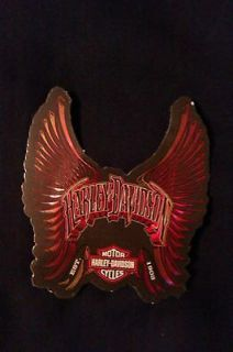 Harley Davidson Eagle Red Wing sticker, motorcycle helmet decal