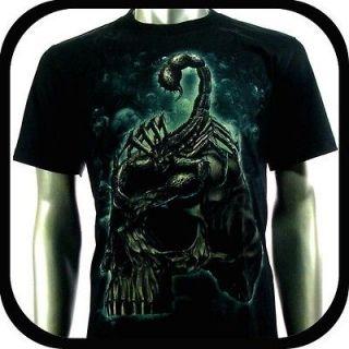 Rock Eagle T Shirt Biker Indie Tattoo RE98 Sz L Graffiti Skull Glow In