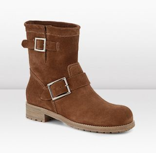 Jimmy Choo  Youth  Suede Biker Boots  JIMMYCHOO