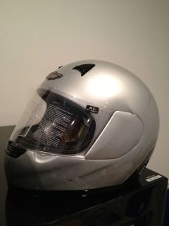 Harley Davidson 100th Anniversary Full Face XL Helmet Silver