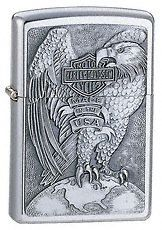 ZIPPO HARLEY DAVIDSON MADE IN USA EAGLE MINT IN BOX