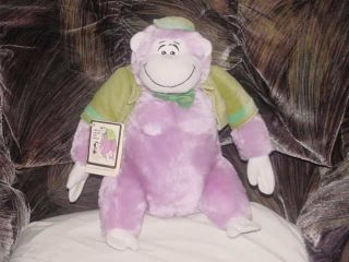 12 The Great Grape Ape plush Toy W/Tags 1985 Hanna Barbera By