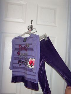 HART STREET BABY GIRLS FIRST BIRTHDAY GIFT OUTFIT 2 PC SET 18M PURPLE