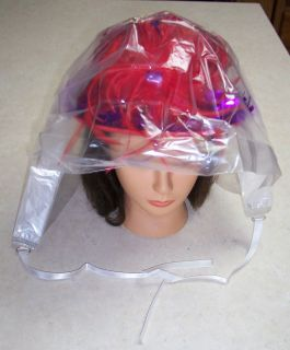 Red Hat Ladies   Large Clear Plastic Cover / Rain Hat for Wet Weather