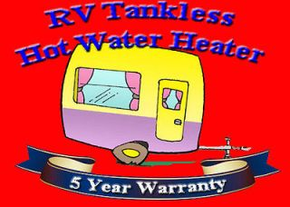 RV on Demand Tankless Instant Hot Water Heater 3Gpm Propane LP Gas by