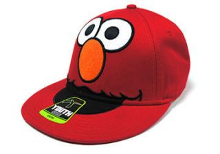 NEW LICENSED SESAME STREET YOUTH KIDS SIZE RED ELMO BIG FACE SNAPBACK