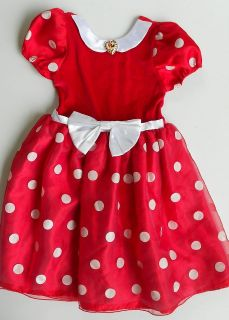 MINNIE MOUSE HALLOWEEN COSTUME DRESS  GIRLS 7 8 RED WHITE
