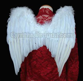 Snow WHITE Feather Angel wings for children of 5 10 or teen girls/boys