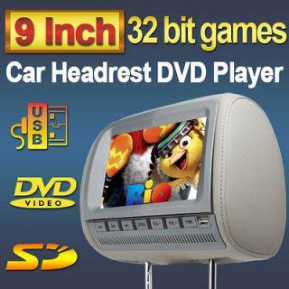 headrest dvd player grey in Car Monitors w/o Player