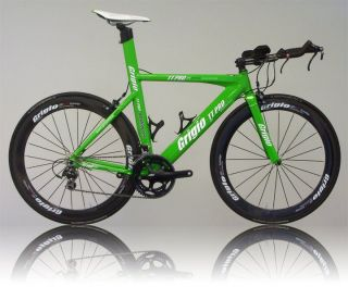New TT PRO Triathlon / Time Trial Bike / TT / carbon Wheels / GREEN