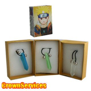 FIRST HOKAGE TSUNADE CRYSTAL NECKLACE Green/White/Blue Cosplay