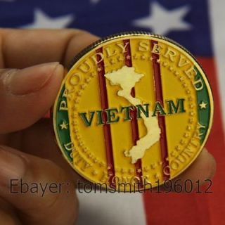 Vietnam Veterans / U.S Armed Forces / Military Challenge Coin 241