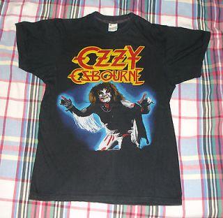 RaRe *1981 OZZY OSBOURNE* vtg rock metal concert tour t shirt (M