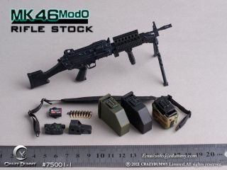 Crazy Dummy MK46 Mod0 Rifle Stock 75001 1 Black Ver