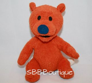 Mattel Jim Henson Plush OJO Orange Bear from Bear in the Big Blue