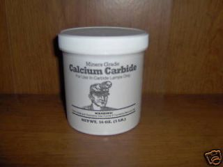 CALCIUM CARBIDE ONE POUND FOR MINERS CARBIDE LAMPS!