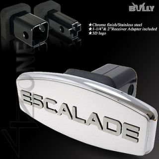 CADILLAC ESCALADE TOW HITCH RECEIVER COVER CAP CHROME STAINLESS STEEL