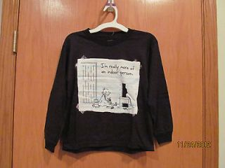 Boys DIARY OF A WIMPY KID~Inside Person LS shirt~Size XS~NEW w/tags