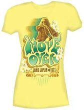 New Janis Joplin Move Over Yellow Girls Junior small T shirt