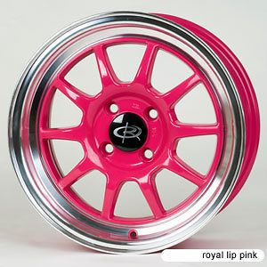 GT3 PINK RIMS WHEELS 15x7 +40 4x100 CIVIC INTEGRA XB JETTA MINI COOPER