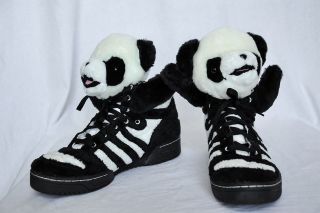 JEREMY SCOTT ADIDAS Mens Panda Teddy Bear Wing High Top Sneaker Shoe