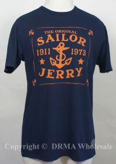 Authentic SAILOR JERRY Tattoo Anchor Aweigh Slim Fit T Shirt S M L XL