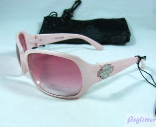 HARLEY DAVIDSON Pink Diva with Pink Crystals Logo Sunglasses # HDS006