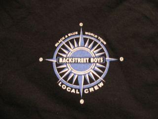 BACKSTREET BOYS Black & Blue World Tour Local Crew T Shirt Black XL