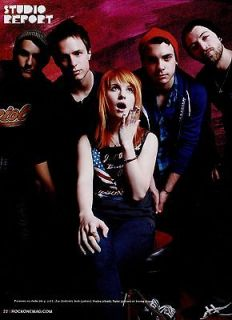 PARAMORE Mini POSTER / magazine Pin Up #3 french RARE