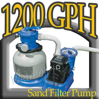 1200 GPH Sand Filter Pump with GFCI Above Ground Swimming Pool Filter