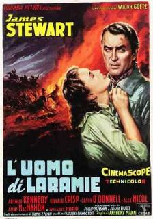 THE MAN FROM LARAMIE POSTER  JAMES STEWART  ITALY A   UNIQUE AT