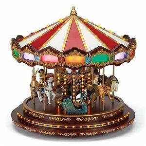 Mr. Christmas New for 2012, #19844 Royal Marquee Carousel NIB/SAME DAY