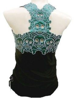 ROCKABILLY PUNK ROCK BABY Gothic Tiki Skull Cannibal Tattoo TANK TOP