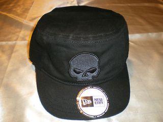 Harley Davidson Black Skull Hat Biker Skullcap Doo Rag Cap Headwrap