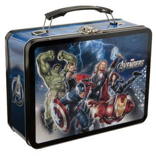 Avengers Tin Tote Metal LUNCHBOX Thor Hulk captain America Iron Man
