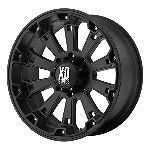 Black Wheels Rims Chevy 2500 3500 Dodge RAM Ford Truck 8 Lug Hummer H2