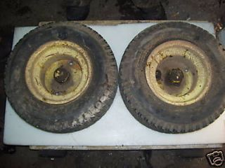 JOHN DEERE 140 FRONT RIMS AND TIRES 16X6.50 8