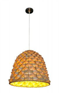 Light Natural Bamboo Pendant Ceiling Light Shade Weave Dome Shaped