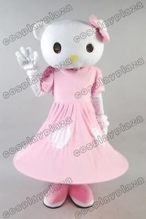 Hello Kitty Pink Mascot Costume Adult Size