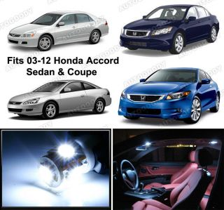 6x White LED Lights Interior Package For Honda ACCORD (Fits 2004