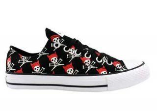 Converse All Star CT OX JACKASS black red mens skull devil vegan shoe