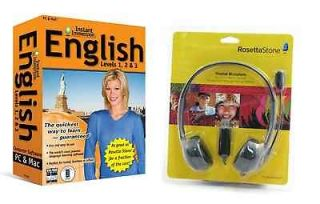 Instant Immersion Learn ENGLISH Language Software with Rosetta Stone