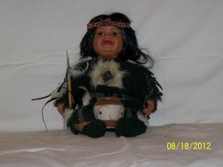 CATHAY COLLECTION PORCELAIN NATIVE AMERICAN INDIAN DOLL