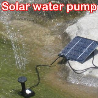 Solar Power Fountain Pool Water Pump Garden Plants Sun plants watering