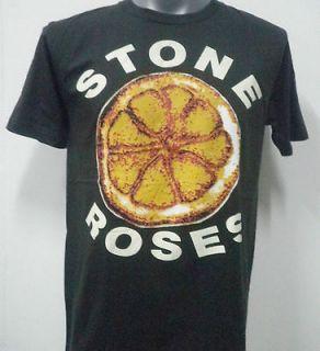 STONE ROSES INDIE ROCK T SHIRT BLACK SIZE Large
