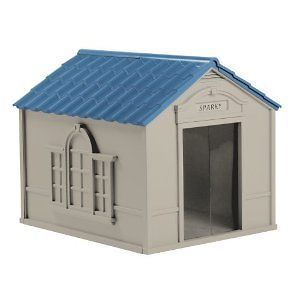 LG Dog House W/ Medium Door Quality Med Floor Outdoor Pet Home New