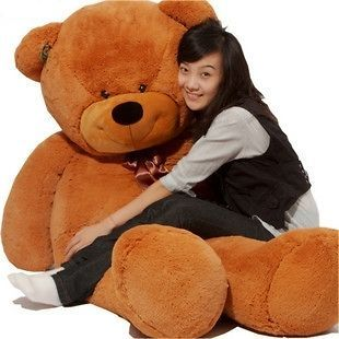 63 giant stuffed animal bear plush toys actual length160cm from