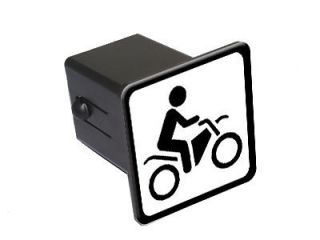 Bike Off Road Sign Symbol   1.25 Tow Trailer Hitch Cover Plug Insert