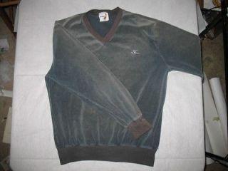 Vintage Hobie Velour Terry Cloth Sweatshirt Black Surfer Shirt Vtg